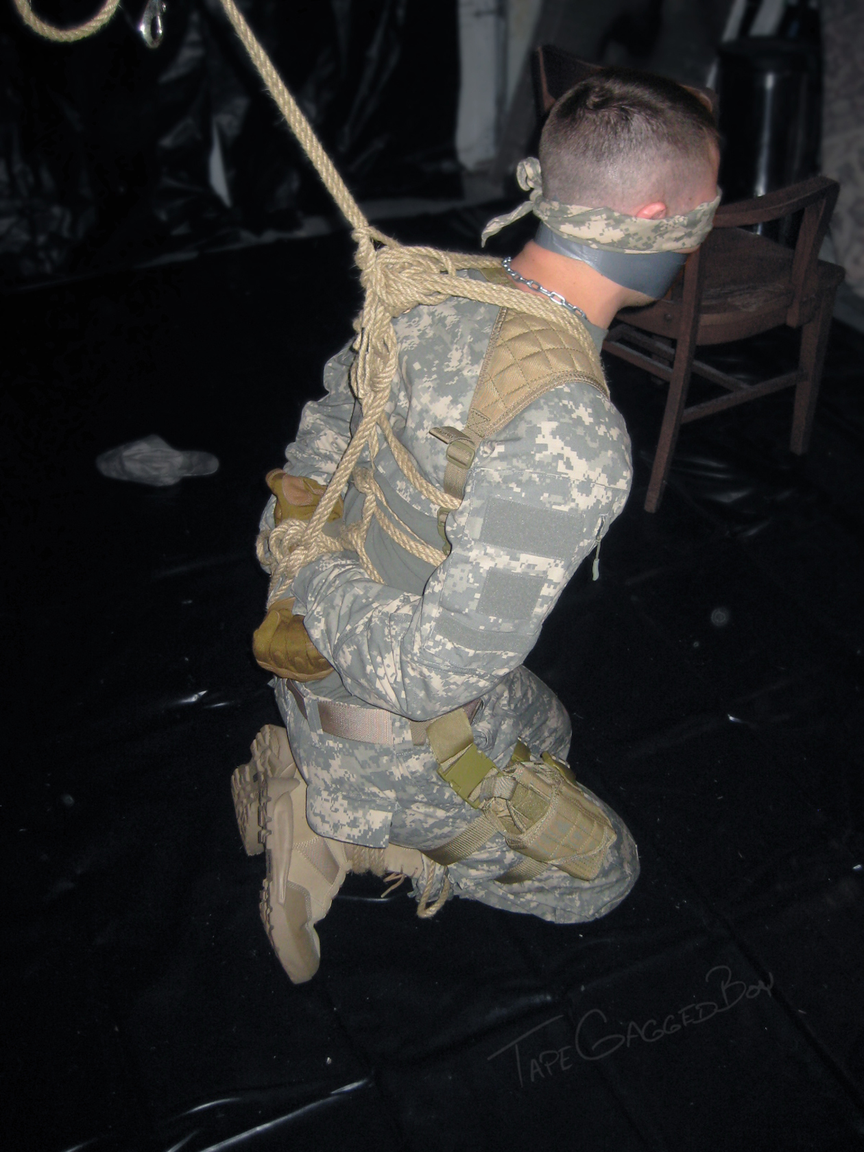 Military men roleplay fetish and kink
