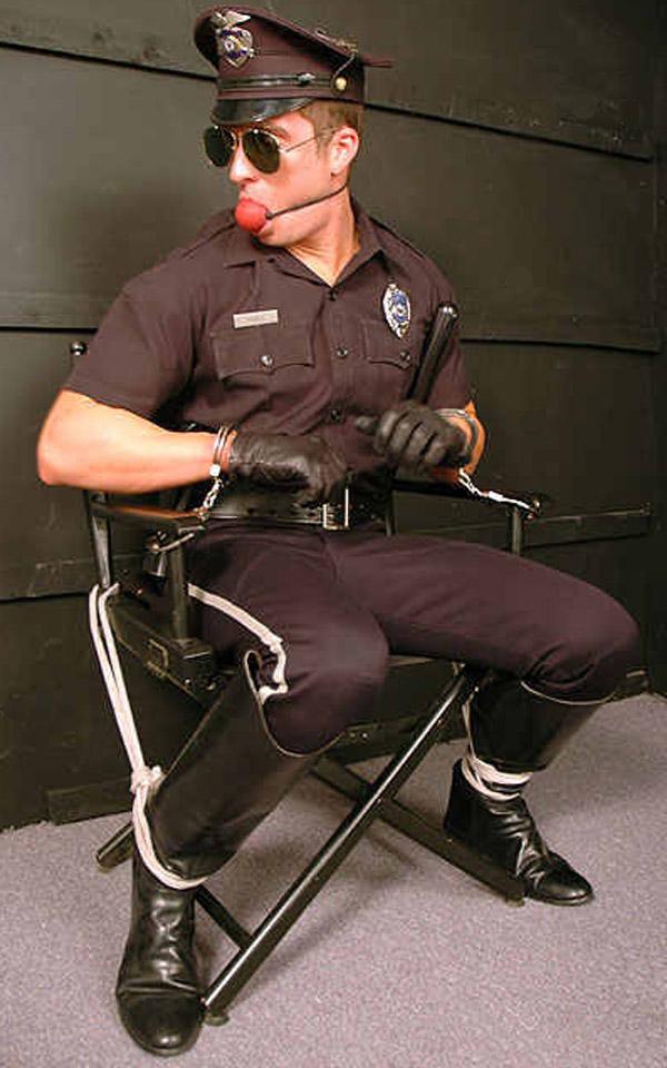 Police officer bondage